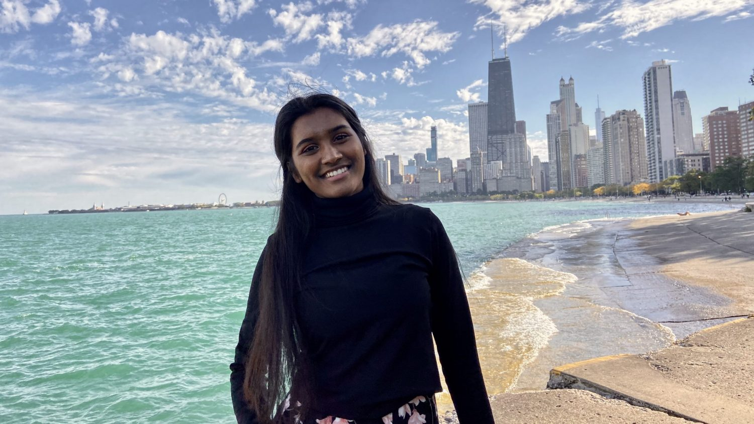 Jeyashree Haridoss, an NCState student, during her junior year abroad.