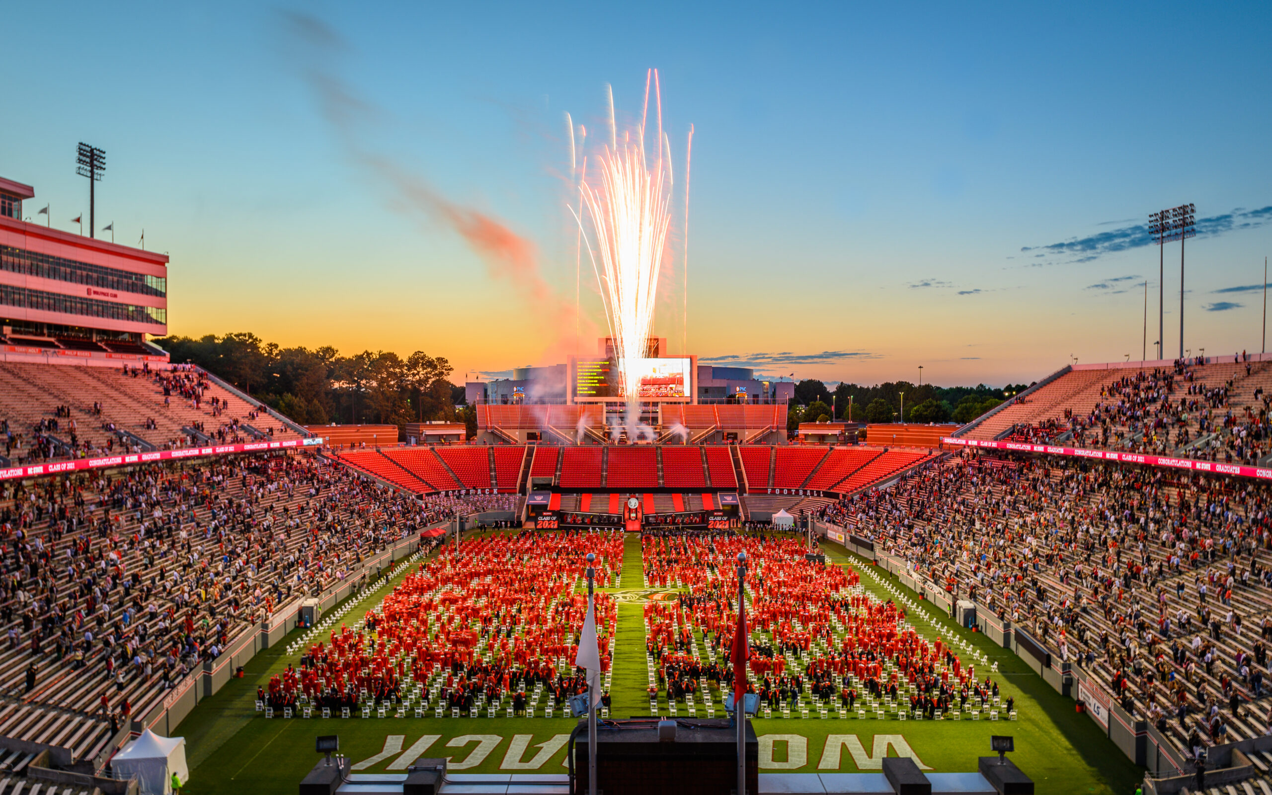 Carter Finley with fireworks