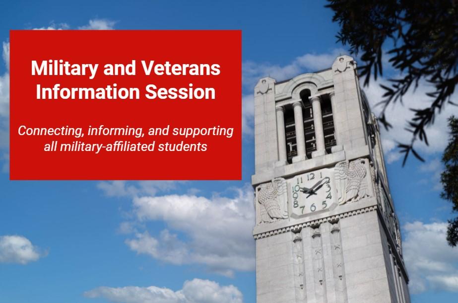 military info session opening slide