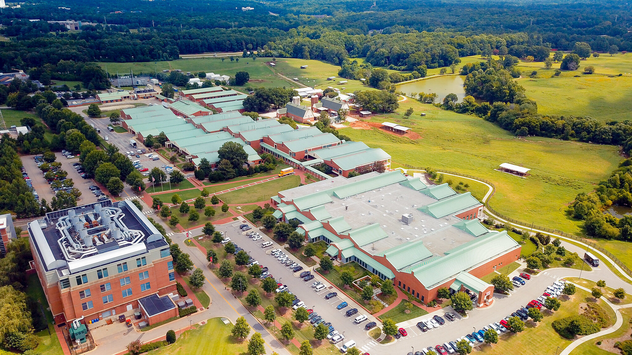 Aerial shot of Centennial Biomedical Campus