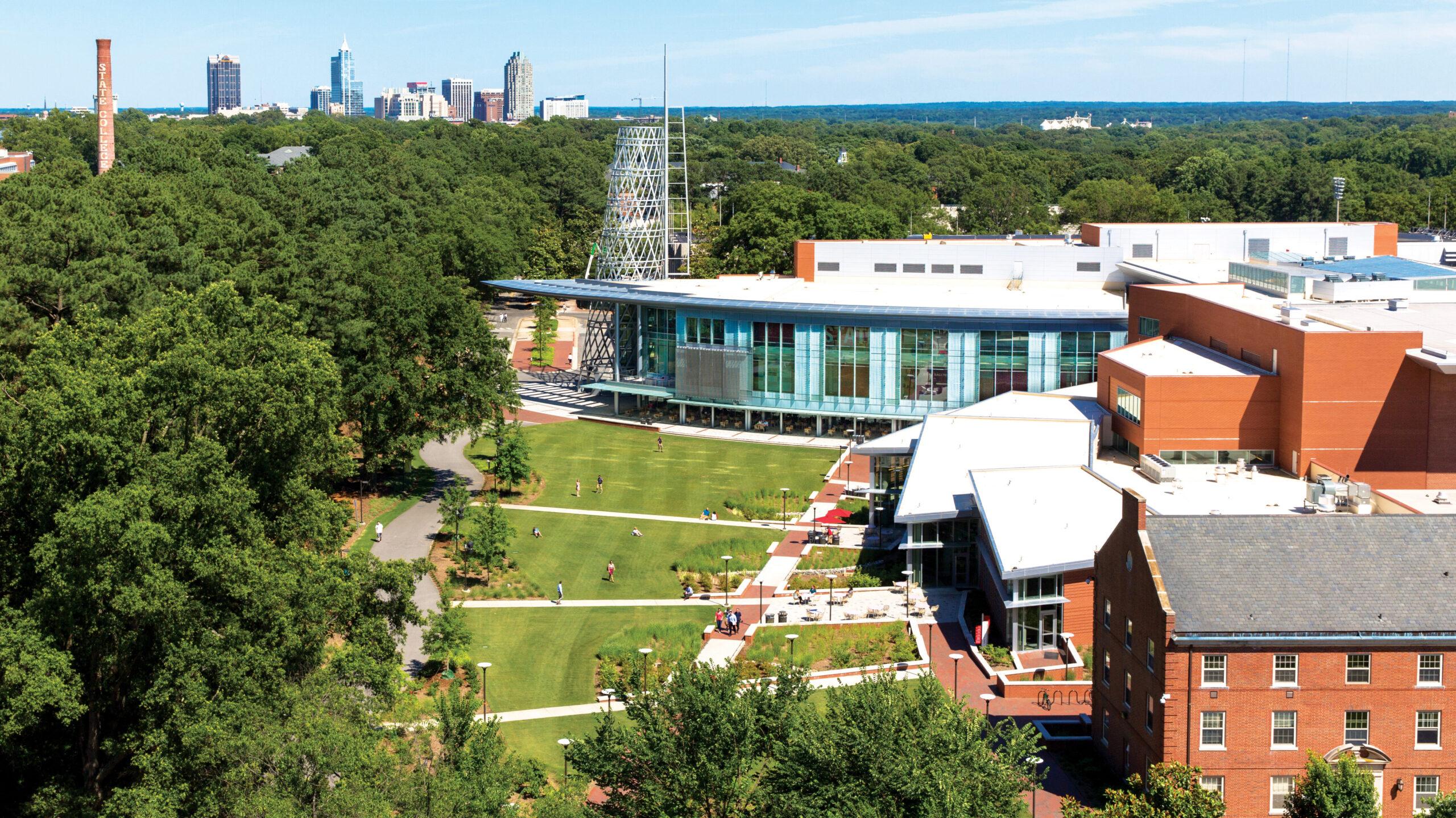 Aerial shot of Main Campus